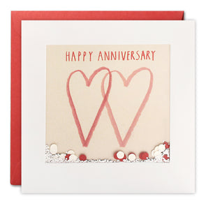 PS2273 - Two Hearts Anniversary Shakies Card