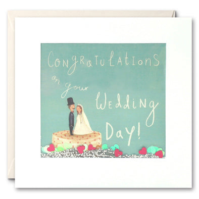 PS2282 - Wedding Cake and Couple Shakies Card