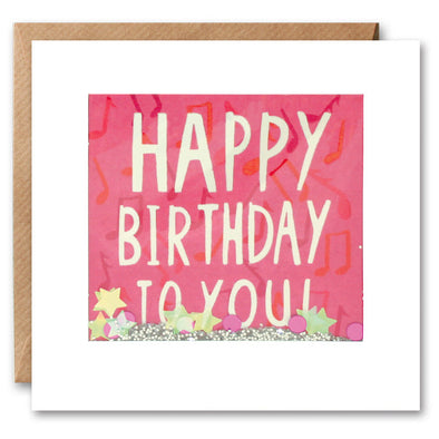 PS2285 - Pink Birthday Shakies Card