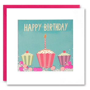 PS2292 - Three Cupcakes Shakies Card