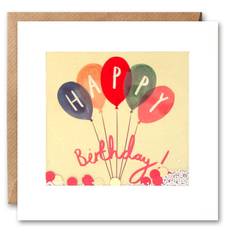 PS2293 - Colourful Balloons Shakies Card