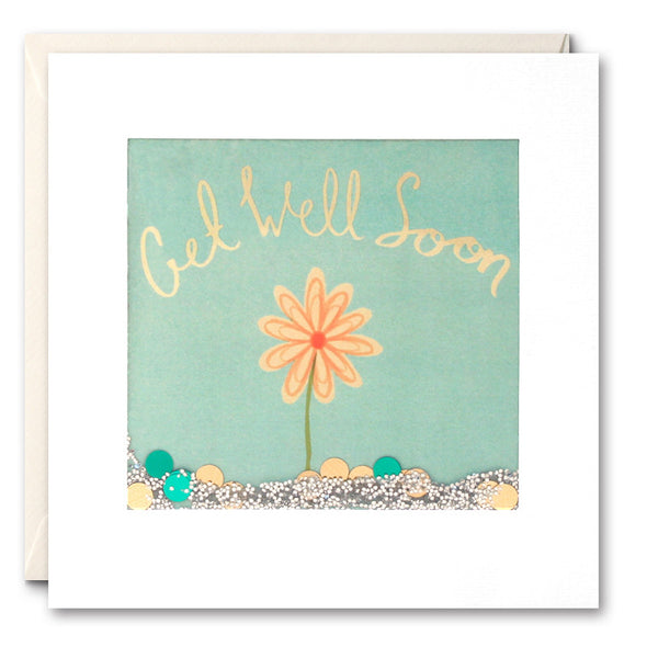 PS2297 - Yellow Flower Get Well Shakies Card