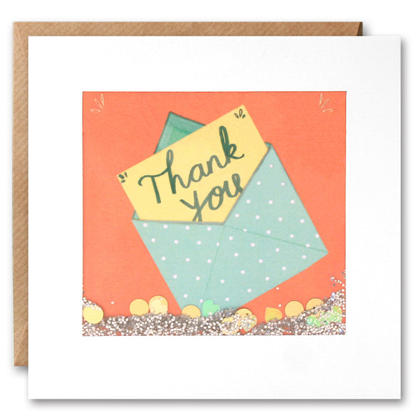 PS2300 - Thank You in Envelope Shakies Card