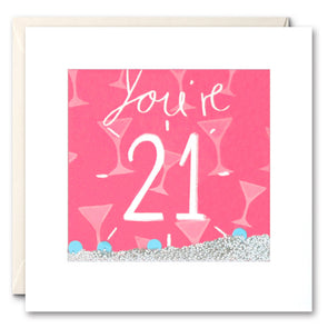 PS2368 - You're 21 Shakies Card