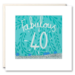 PS2370 - Fabulous 40 Shakies Card