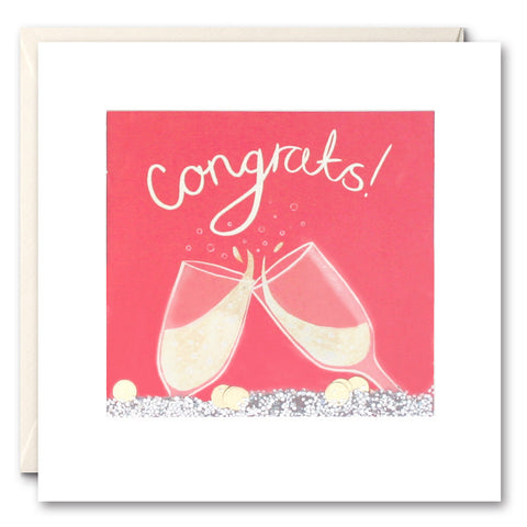 PS2476 - Congrats Champagne Shakies Card