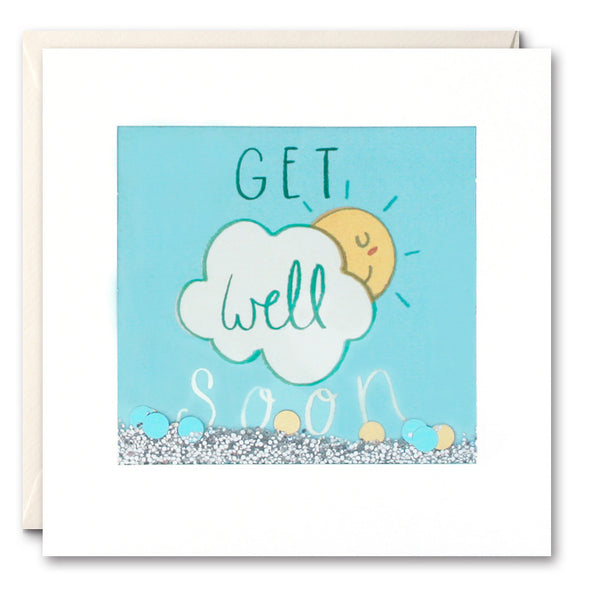 PS2477 - Get Well Sun Shakies Card