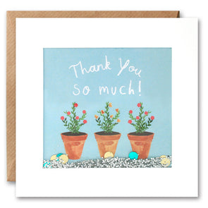 PS2508 - Plant Pots Thank You Shakies Card