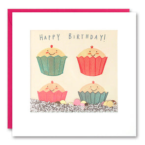 PS2522 - Happy Cupcakes Shakies Card
