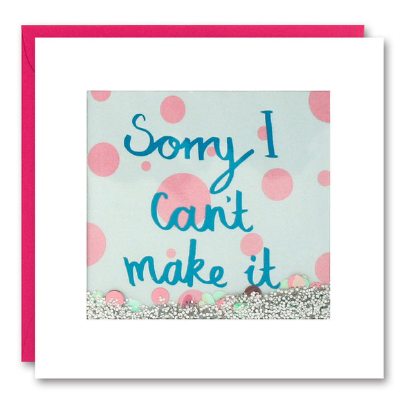PS2526 - Sorry I Can't Make it Shakies Card