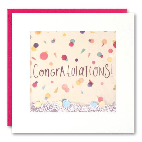 PS2578 - Congratulations Confetti Shakies Card