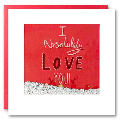 PS2614 - Absolutely Love You Shakies Card