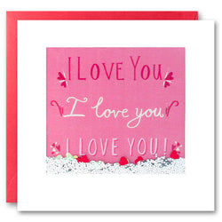 PS2615 - I Love You I Love You Shakies Card