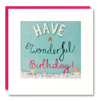 PS2627 - Wonderful Birthday Shakies Card
