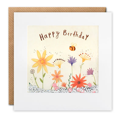PS2692 - Flowers and Bee Shakies Card