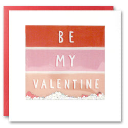 PT2815 - Be My Valentine Stripes Shakies Card