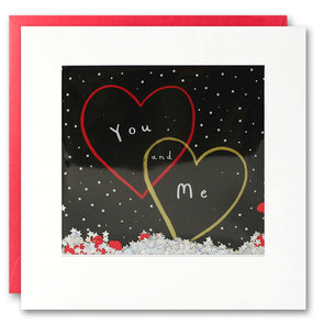 PT2816 - You and Me Hearts Shakies Card