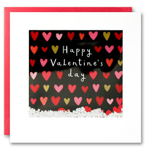 PT2818 - Valentine Hearts on Black Shakies Card