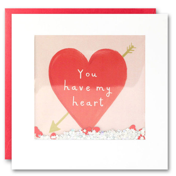 PT2819 - Heart and Arrow Shakies Card