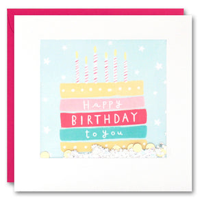 PT2831 - Birthday Cake and Stars Shakies Card