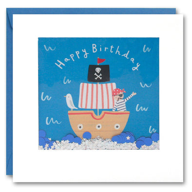 PT2838 - Pirate Ship Shakies Card