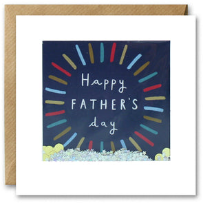 PT2846 - Happy Father's Day Colourful Circle Shakies Card