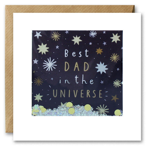 PT2848 - Best Dad in the Universe Shakies Card
