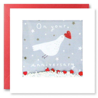 PT2868 - Your Anniversary Dove Shakies Card