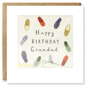 PT2874 - Grandad Slippers Birthday Shakies Card