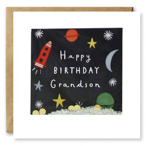 PT2877 - Grandson Space Birthday Shakies Card