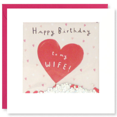 PT2882 - Wife Balloon Birthday Shakies Card