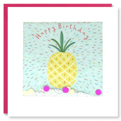 PT2884 - Birthday Pineapple Shakies Card
