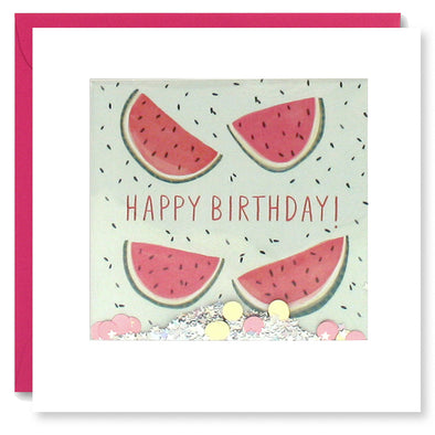 PT2885 - Birthday Watermelons Shakies Card