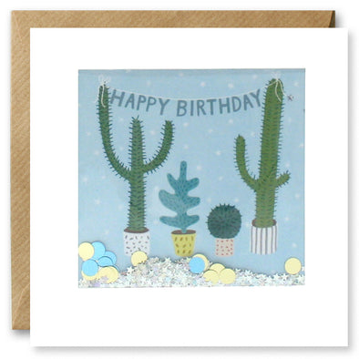 PT2886 - Birthday Cactus Shakies Card