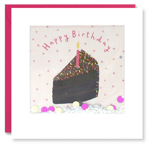 PT2890 - Birthday Chocolate Cake Shakies Card