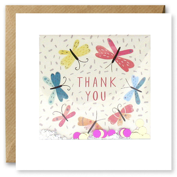 PT2891 - Thank You Butterflies Shakies Card
