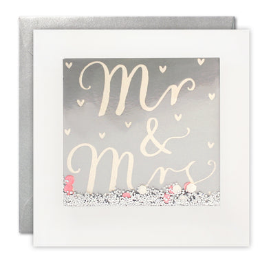 PT2895 - Mr & Mrs Foiled Shakies Card