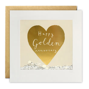 PT2896 - Golden Anniversary Foiled Shakies Card