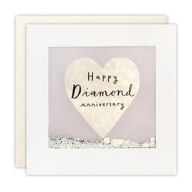PT2897 - Diamond Anniversary Foiled Shakies Card