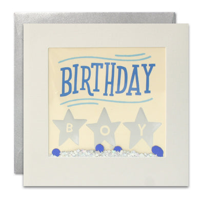PT3010 - Birthday Boy Foiled Shakies Card