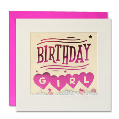 PT3011 - Birthday Girl Foiled Shakies Card