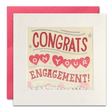 PT3050 - Engagement Hearts Foiled Shakies Card