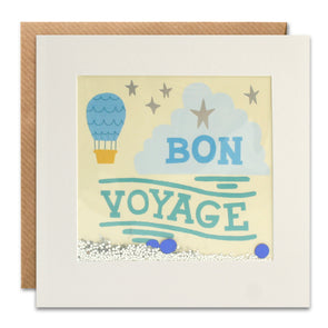 PT3053 - Bon Voyage Balloon Foiled Shakies Card