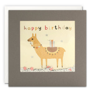 PT3203 - Happy Birthday Llama Grey Shakies Card