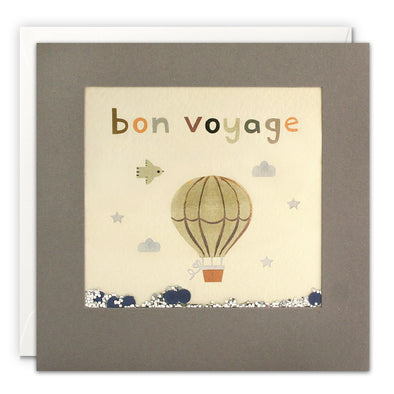 PT3225 - Bon Voyage Balloon Grey Shakies Card