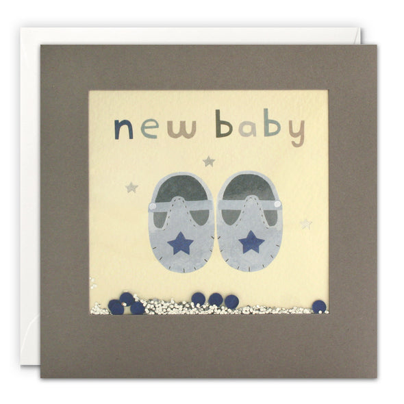 PT3229 - New Baby Blue Shoes Grey Shakies Card