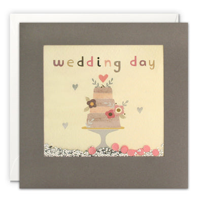 PT3232 - Wedding Cake Grey Shakies Card
