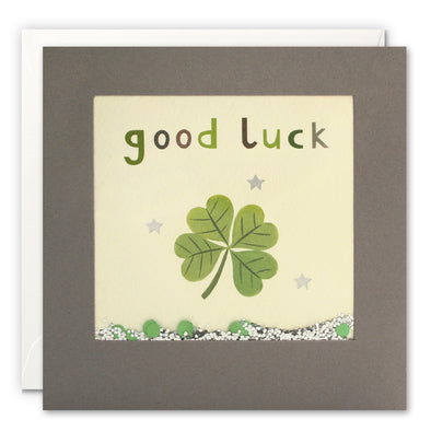 PT3250 - Good Luck Clover Grey Shakies Card