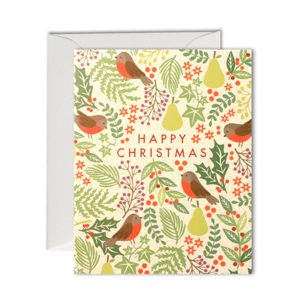 R2944 - Robin Pattern Mini pk of 5 Cards