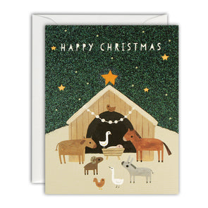 R3211 - Animal Nativity Mini pk of 5 cards
